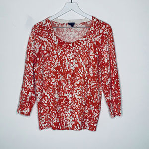 Talbots Floral Button Up Cardigan Large